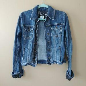 Dolce and Gabbana Jean Denim Jacket Sz 26 XS